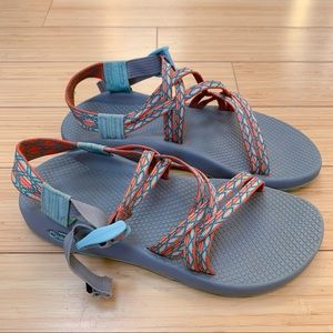 CHACO ZX/1 double strap sandals, women's 9.